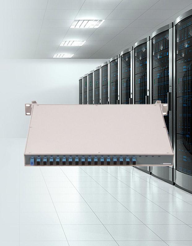 Panel de conexión de fibra óptica