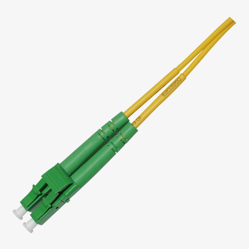 Cable de conexión LC/APC dúplex de un solo molde